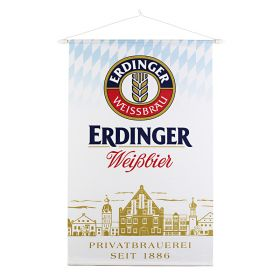 """Banner Erdinger 80 x 125 cm """"ERDINGER"""""""