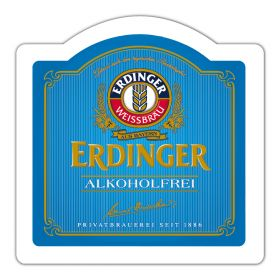 "beer mat ""ERDINGER Non-Alcoholic"""