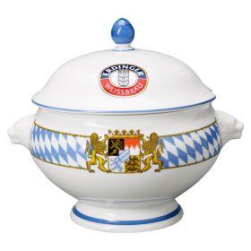 Weißwurstschüssel Porzellan mit Deckel 3l