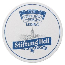 Bierdeckel Stiftung Hell 100er Pack.