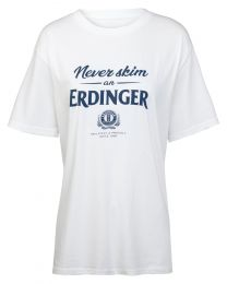 T-Shirt weiß Never skim Damen